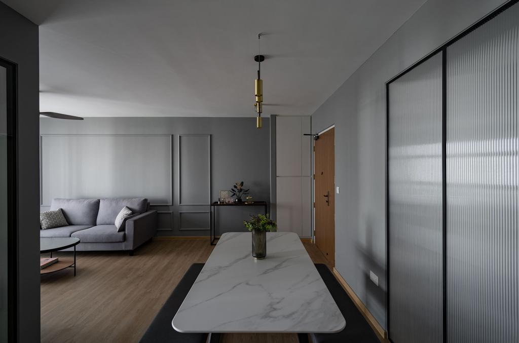 Contemporary, HDB, Dining Room, Tampines GreenVerge, Interior Designer, MET Interior