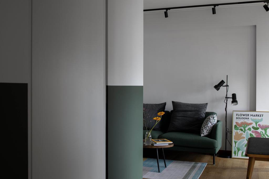 Scandinavian, HDB, Living Room, Punggol Drive, Interior Designer, Ascend Design