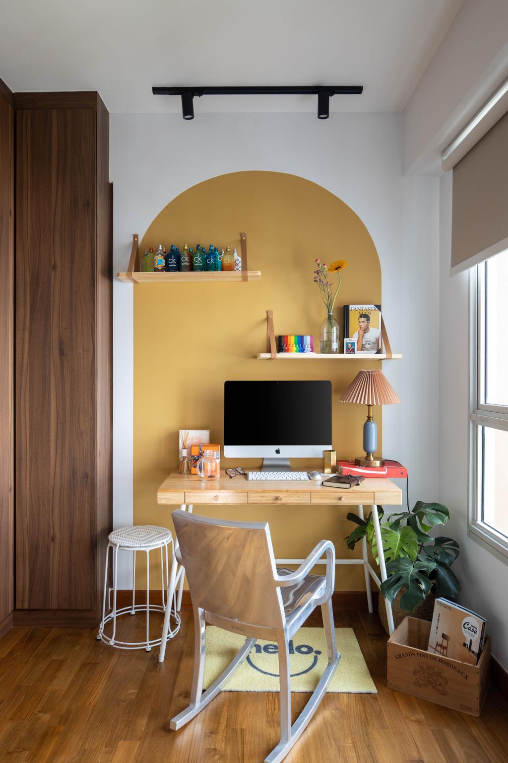 Eclectic, HDB, Study, Punggol Drive, Interior Designer, Ascend Design