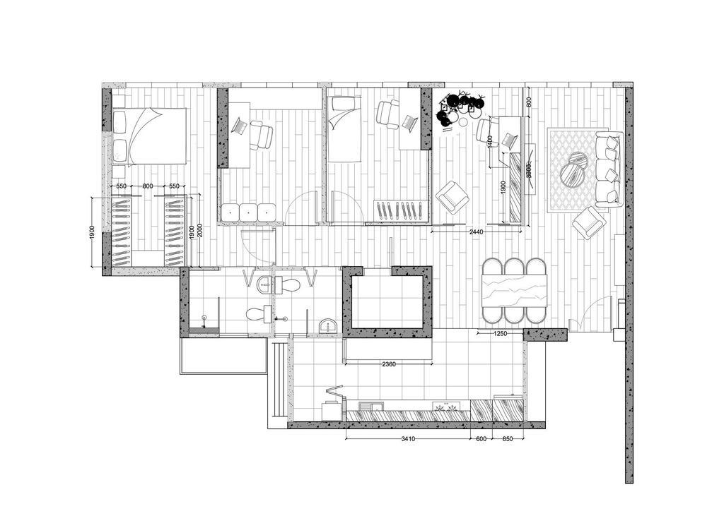 Contemporary, HDB, Tampines GreenVerge, Interior Designer, MET Interior, 5 Room Hdb Floorplan, 5 Room Corridor, Space Planning, Final Floorplan