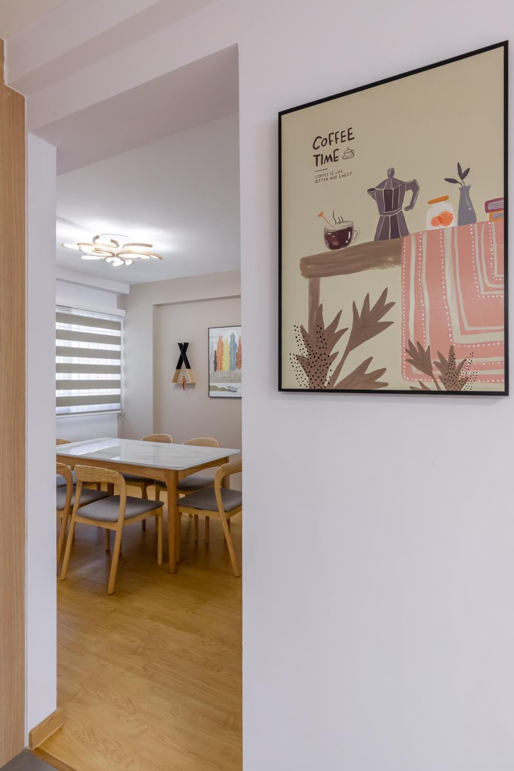 Scandinavian, HDB, Dining Room, Woodlands Street 13, Interior Designer, Des & Co Interior