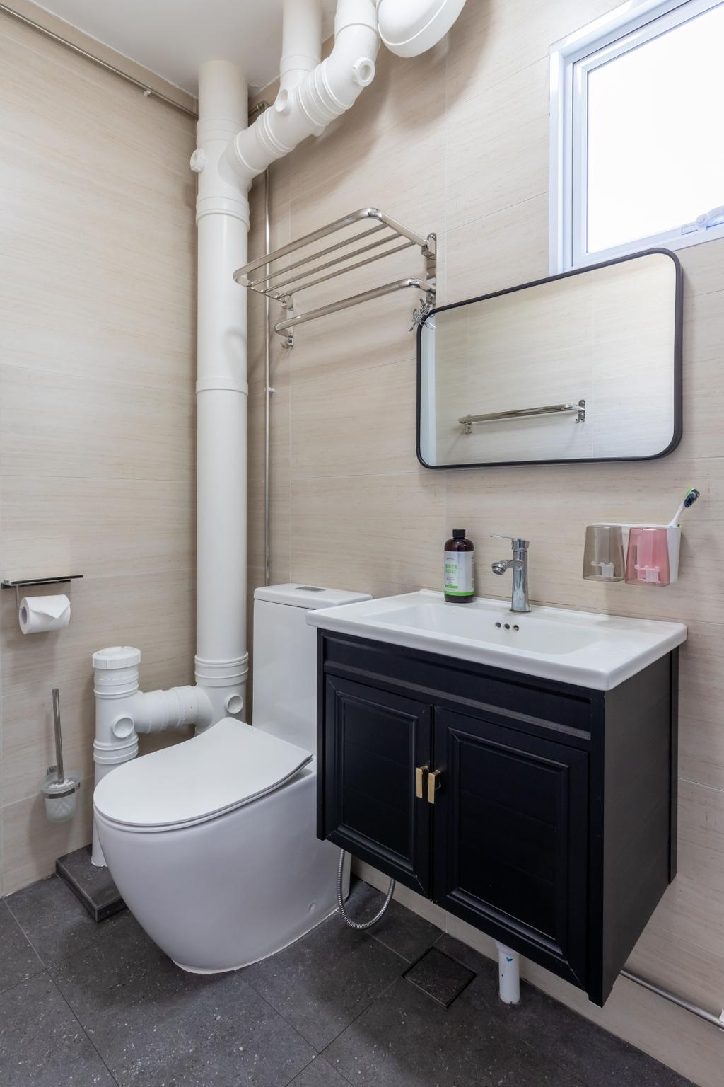 Scandinavian, HDB, Bathroom, Woodlands Street 13, Interior Designer, Des & Co Interior