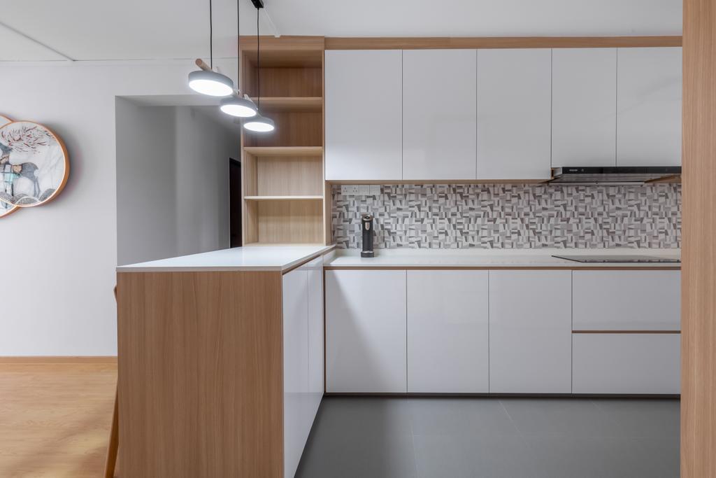 Scandinavian, HDB, Kitchen, Woodlands Street 13, Interior Designer, Des & Co Interior