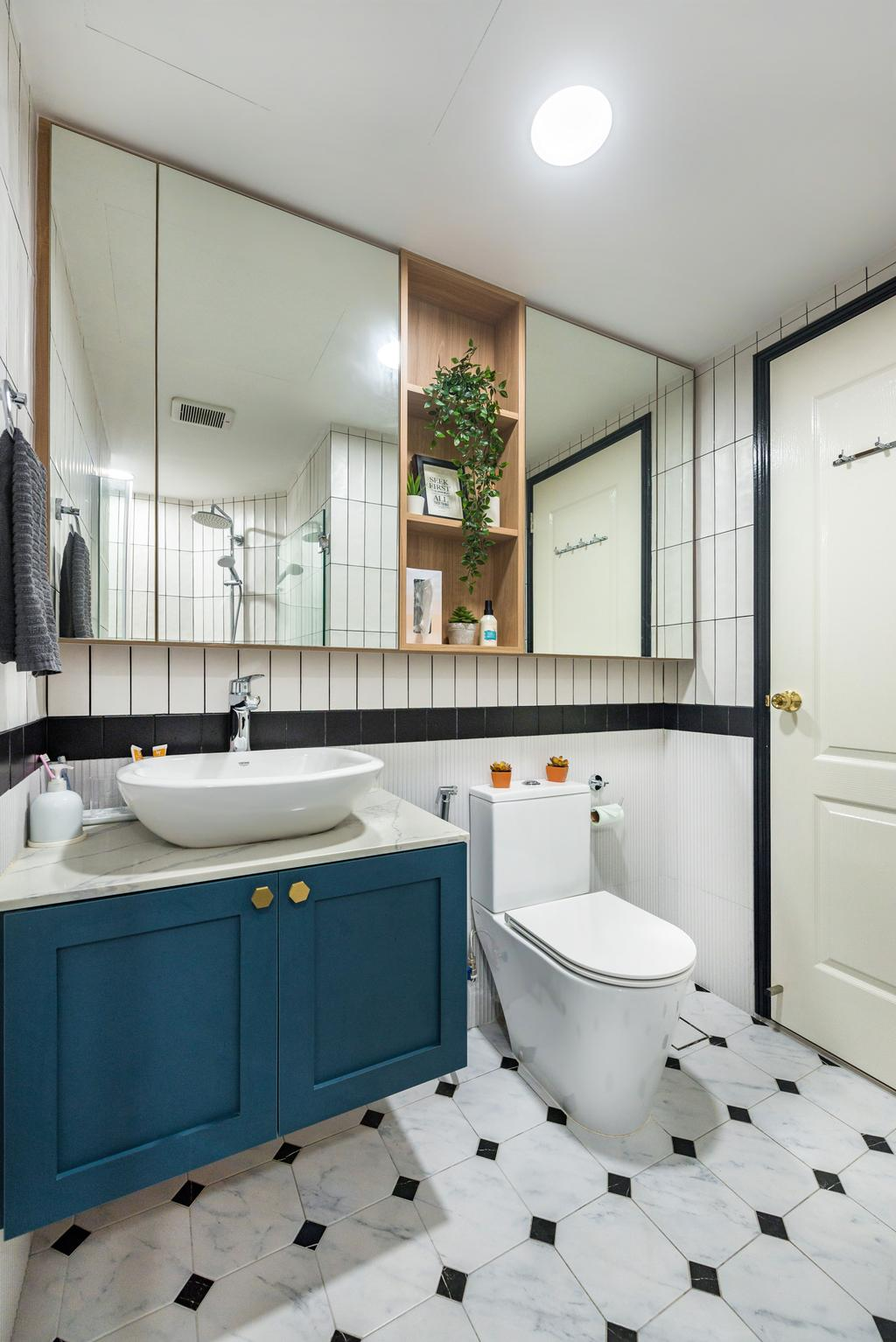 Contemporary, Condo, Bathroom, Santa Fe Mansions, Interior Designer, Archive Design