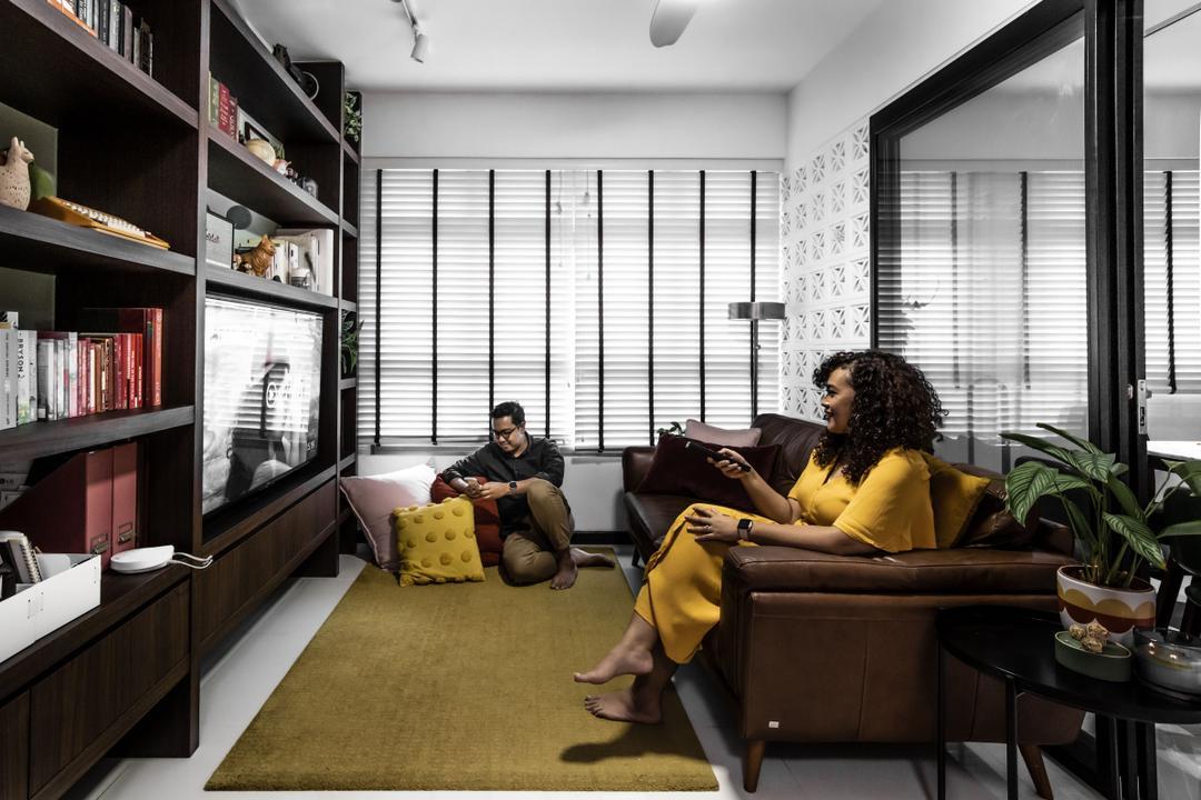 singapore 3-room HDB flat renovation traditional