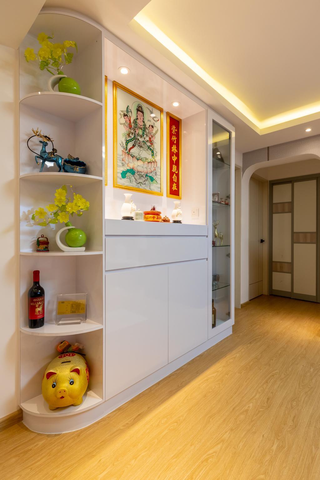 Transitional, HDB, Living Room, Pandan Gardens, Interior Designer, ShiCheng Interior Design, Contemporary