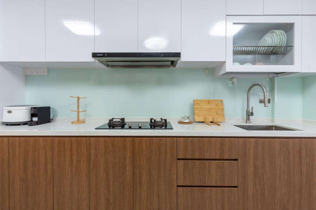 Transitional, HDB, Kitchen, Pandan Gardens, Interior Designer, ShiCheng Interior Design, Contemporary