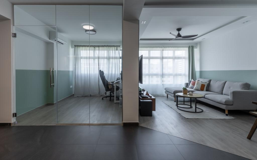 Contemporary, HDB, Living Room, Tampines Street 61, Interior Designer, Le Interior Affairs