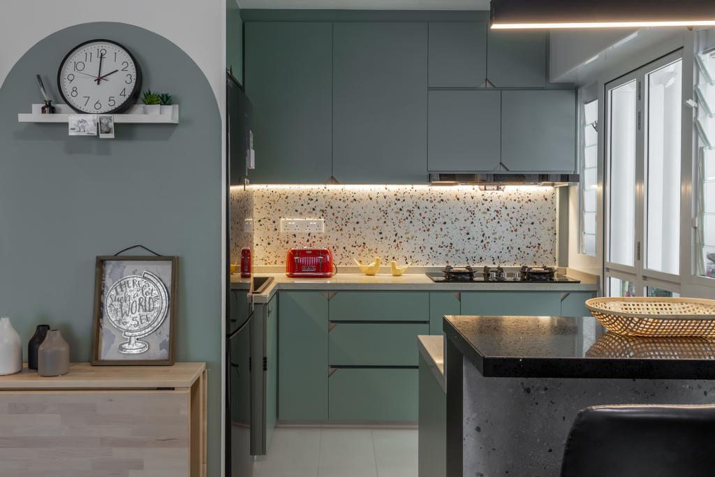 Contemporary, HDB, Kitchen, Tampines Street 61, Interior Designer, Le Interior Affairs