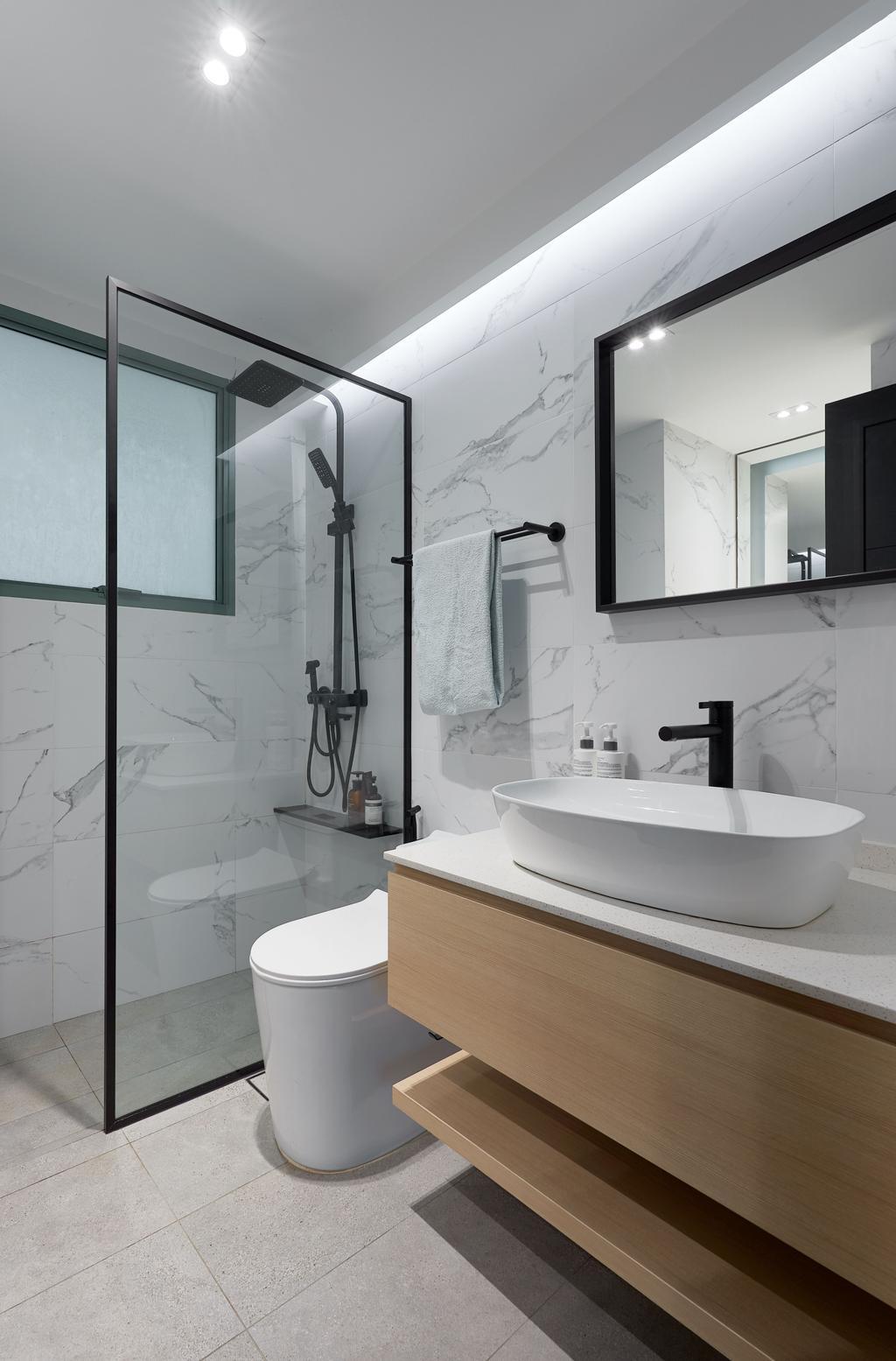 Contemporary, Condo, Bathroom, Palm Gardens, Interior Designer, Schemacraft, Scandinavian