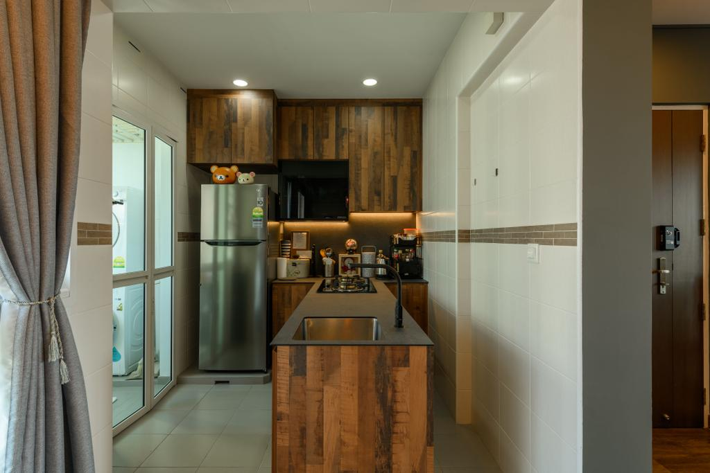 Industrial, HDB, Kitchen, Punggol Field, Interior Designer, Ace's Design, Contemporary
