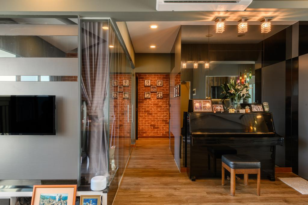 Industrial, HDB, Living Room, Punggol Field, Interior Designer, Ace's Design, Contemporary