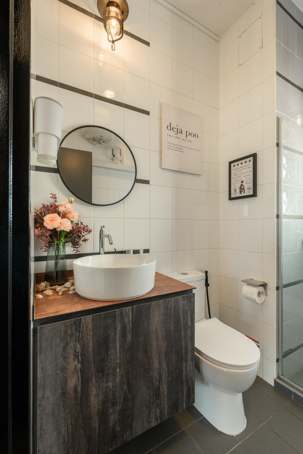 Industrial, HDB, Bathroom, Punggol Field, Interior Designer, Ace's Design, Contemporary