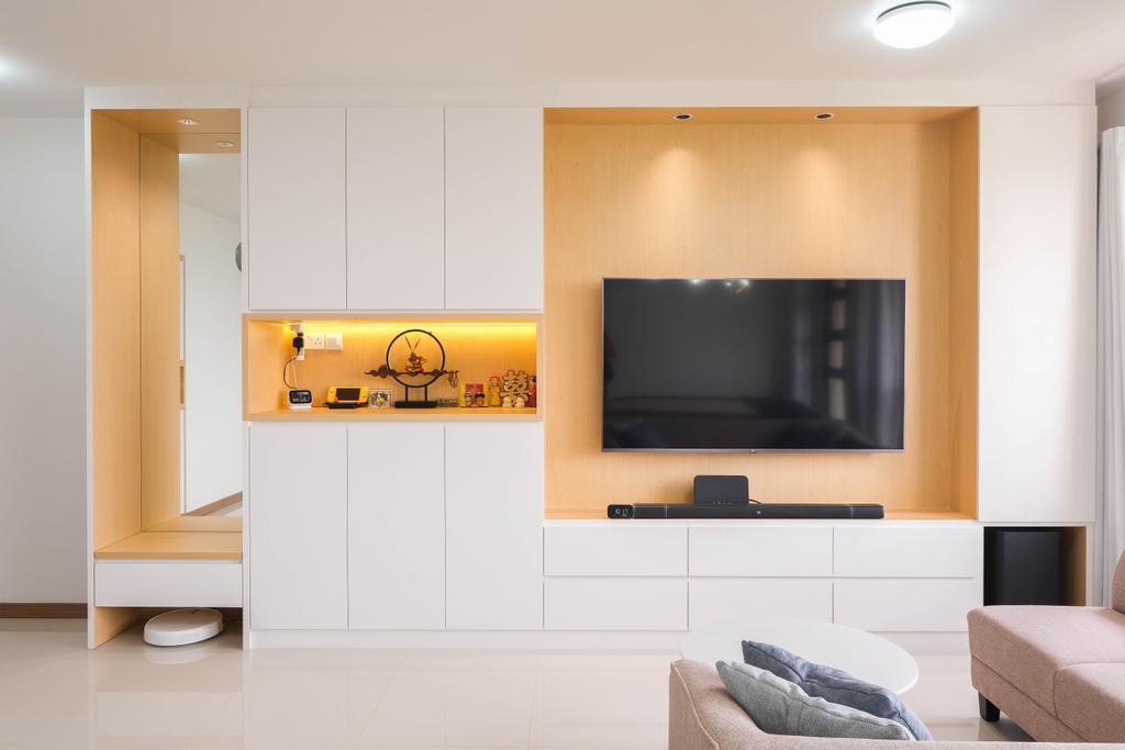 Scandinavian, HDB, Living Room, Bukit Batok West Avenue 9, Interior Designer, Starry Homestead