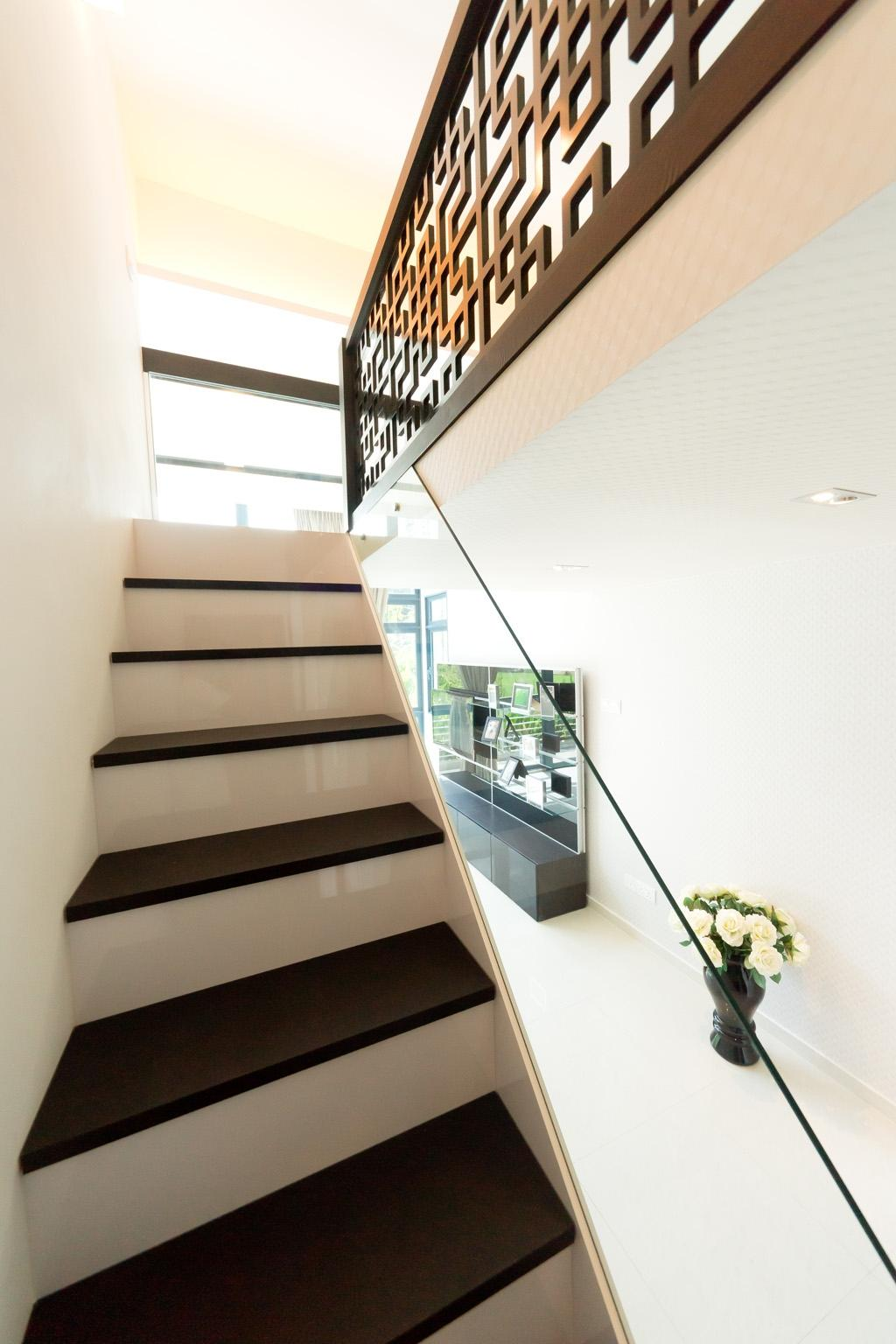 Transitional, Condo, City Square Residences, Interior Designer, Unity ID, Stairs, Staircase, Glass Railing, Railing, Handrails, White