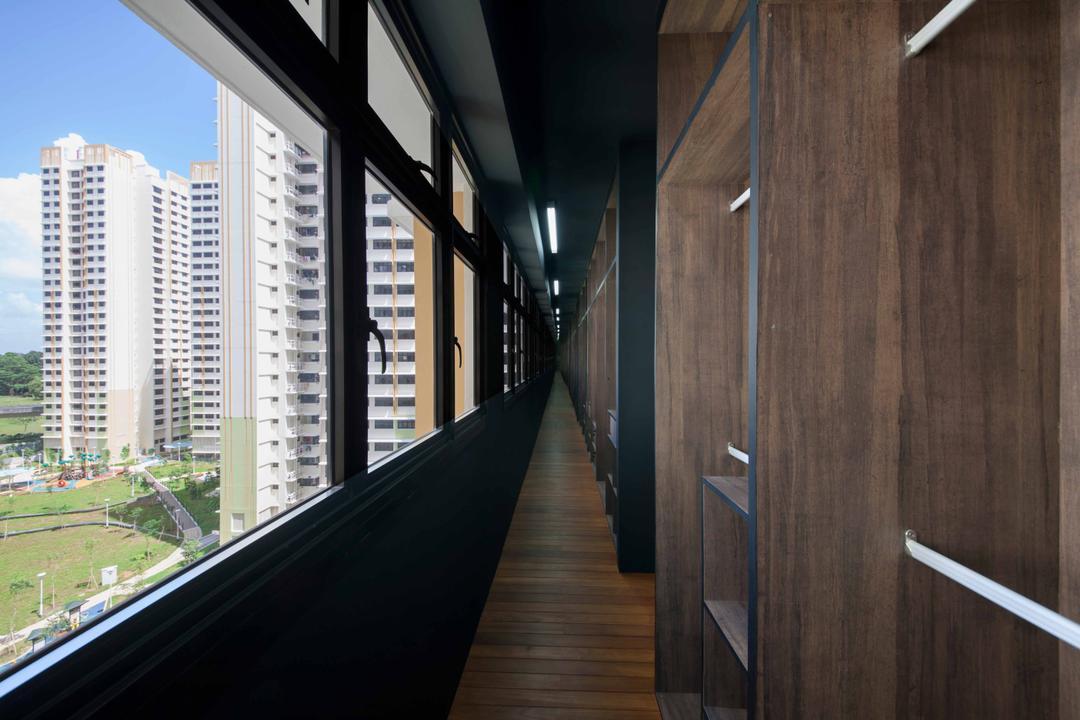 Fernvale Street (Block 472C), Butler Interior, Industrial, Bedroom, HDB, Wardrobe, Cupboard, Path, Walkway, Corridor
