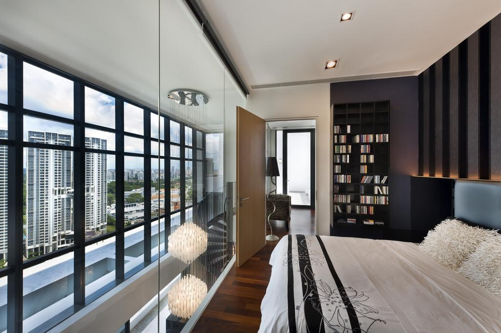 Modern, Condo, Bedroom, The Arte, Interior Designer, Ciseern, Bed, Down Light, Wood Floor, Indoors, Interior Design, Room