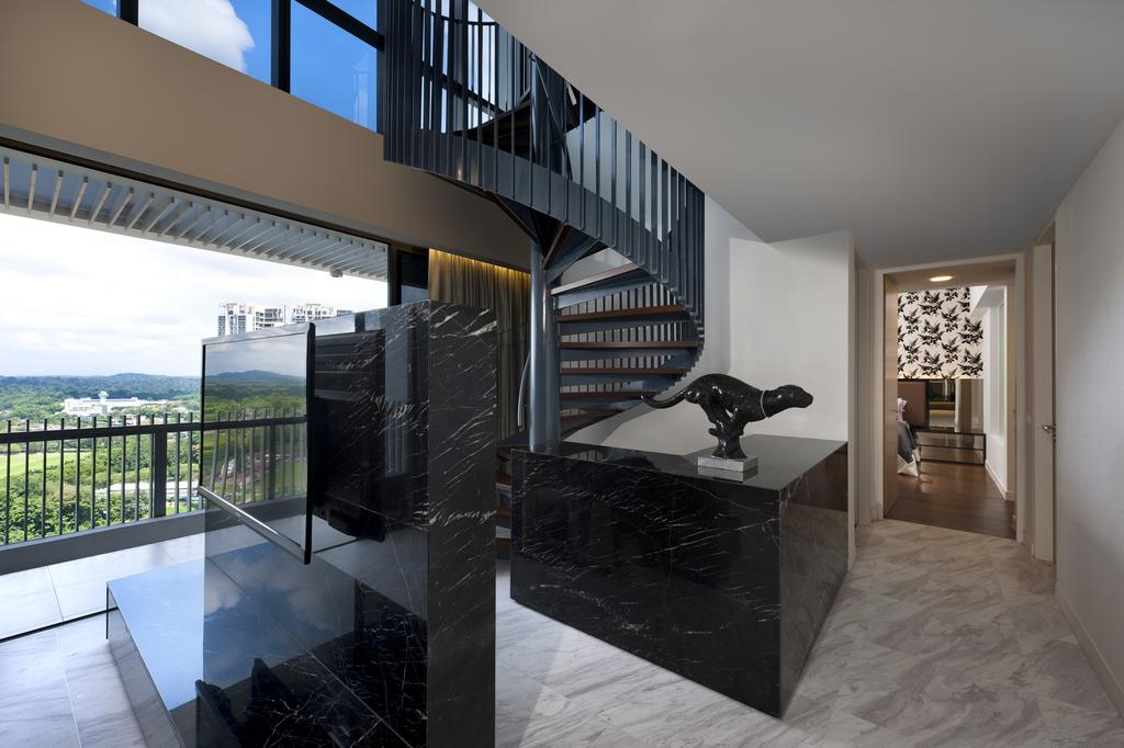Modern, Condo, The Arte, Interior Designer, Ciseern, Tv, Tiles, Stairways, Collage, Poster, Banister, Handrail, Staircase