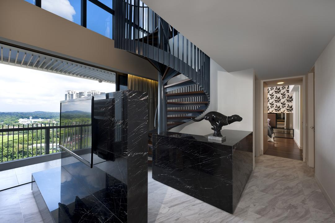 The Arte, Ciseern, Modern, Condo, Tv, Tiles, Stairways, Collage, Poster, Banister, Handrail, Staircase