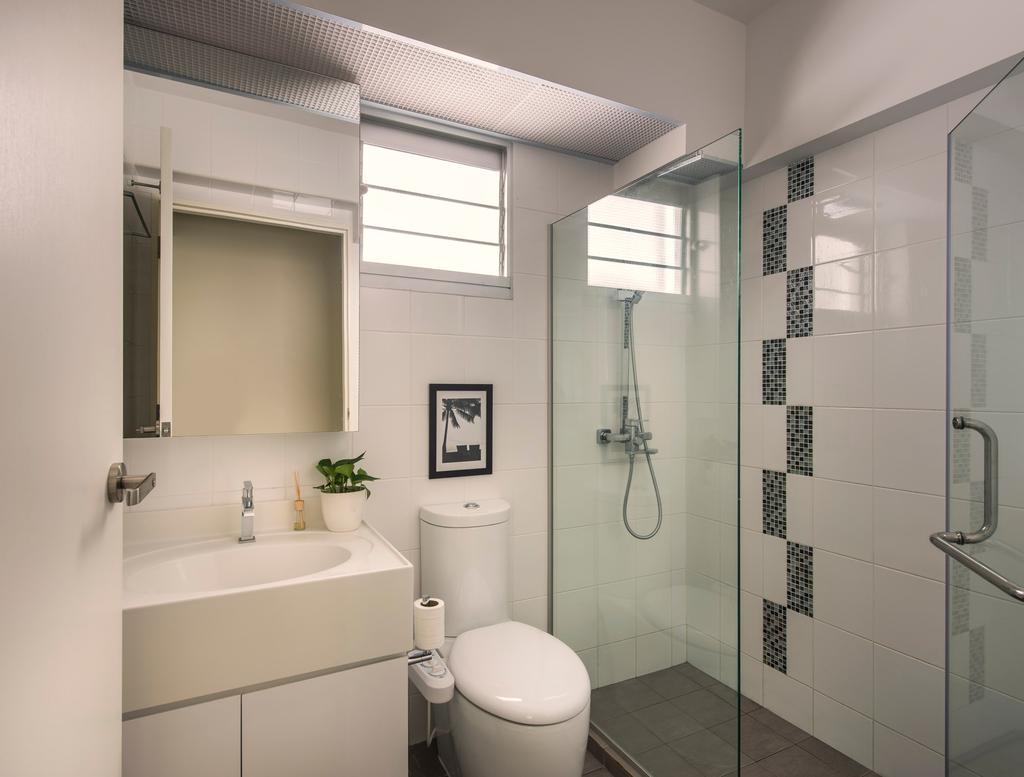 Modern, HDB, Bathroom, Punggol Waves, Interior Designer, Ciseern, Shower Screen, Toilet Bowl, Sink, Cabinets, Indoors, Interior Design, Room, Toilet