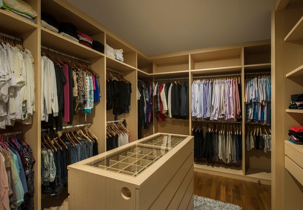 Modern, Landed, Pinewood Grove, Interior Designer, Ciseern, Wardrobe, Glass Display, Walk In Wardrobe, Closet, Furniture