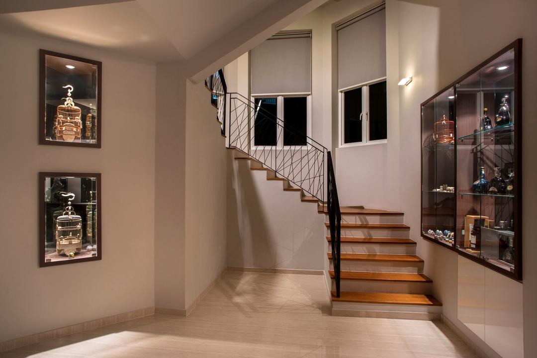 Pinewood Grove, Ciseern, Modern, Landed, Stairs, Glass Display, Banister, Handrail, Staircase, Trophy