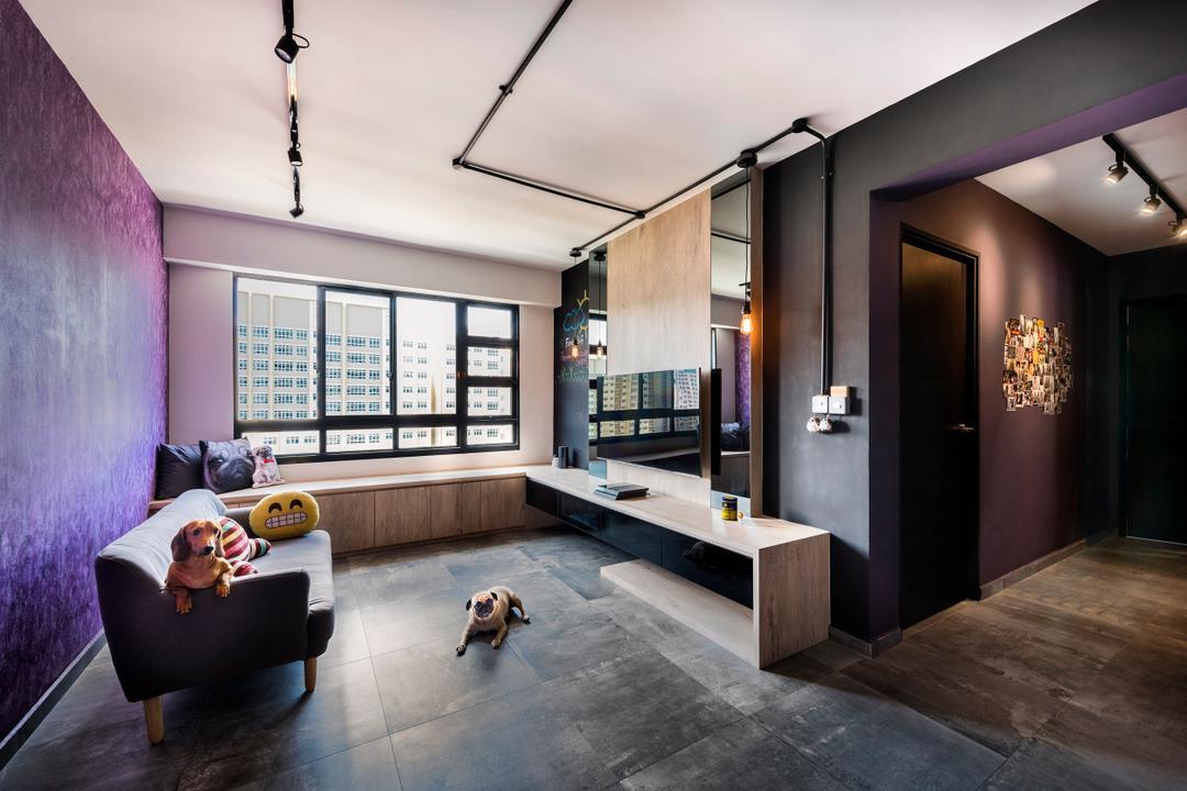 Punggol Field Living Room Interior Design 4
