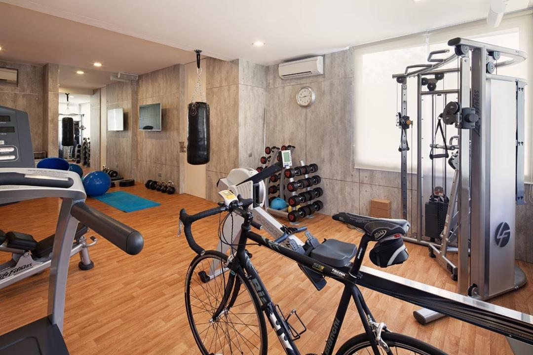 Sundridge Park, Posh Home, Industrial, Minimalistic, Landed, Gym Equipments Wood Floor, Down Lights, Bicycle, Bike, Transportation, Vehicle, Exercise, Fitness, Gym, Sport, Sports, Working Out