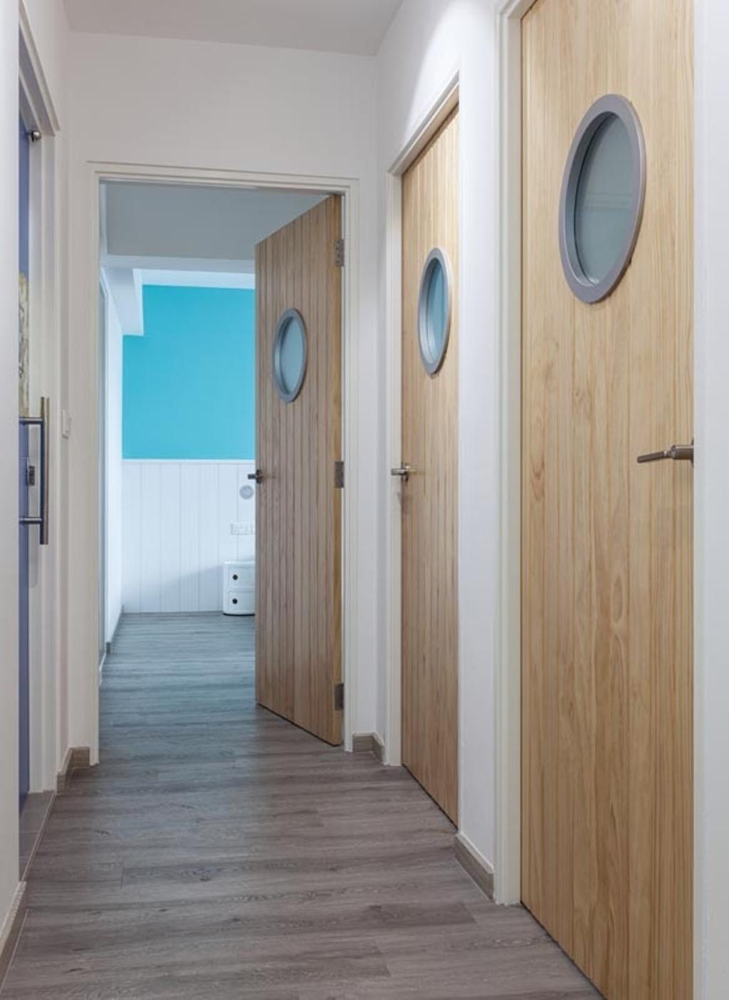 Contemporary, HDB, Punggol Walk (Block 635B), Interior Designer, Posh Home, Wood Floor, Submarine, Wood Door, Door
