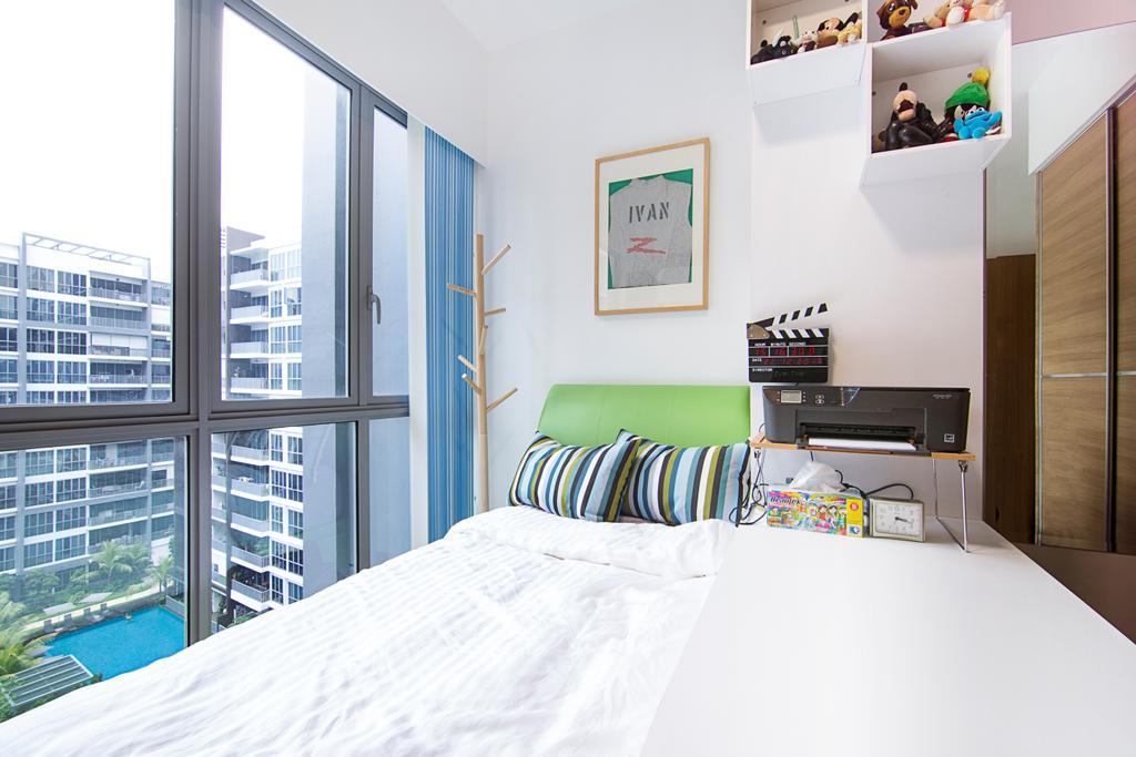 Traditional, Condo, Bedroom, Seastrand, Interior Designer, Schemacraft, Small Bedroom, Small Space, Compact, Coat Rack, Desk, Indoors, Interior Design, Room