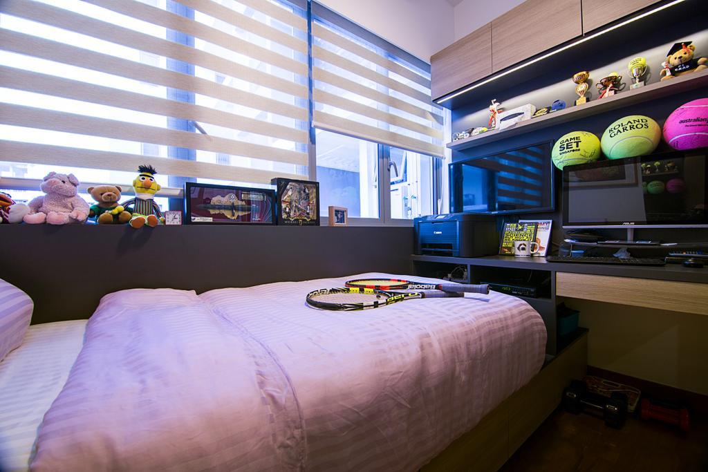 Traditional, Condo, Bedroom, Seastrand, Interior Designer, Schemacraft, Work Desk, Study Desk, Workspace, Teddy Bear, Toy
