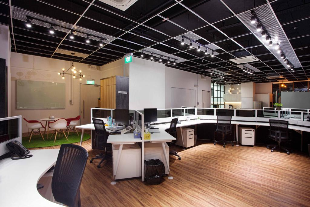 CT Hub 2 Office, Commercial, Interior Designer, Project Guru, Industrial, Eclectic, Flooring, Appliance, Electrical Device, Oven, HDB, Building, Housing, Indoors, Loft