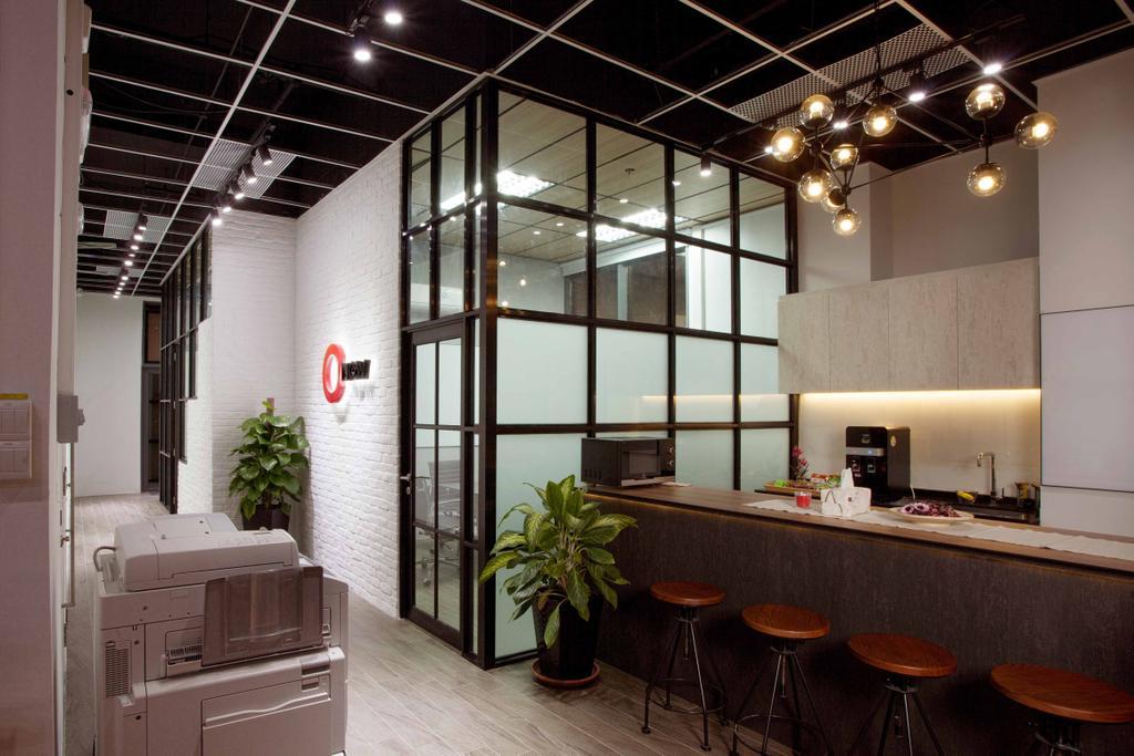 CT Hub 2 Office, Commercial, Interior Designer, Project Guru, Industrial, Eclectic, Flora, Jar, Plant, Potted Plant, Pottery, Vase, Dining Room, Indoors, Interior Design, Room