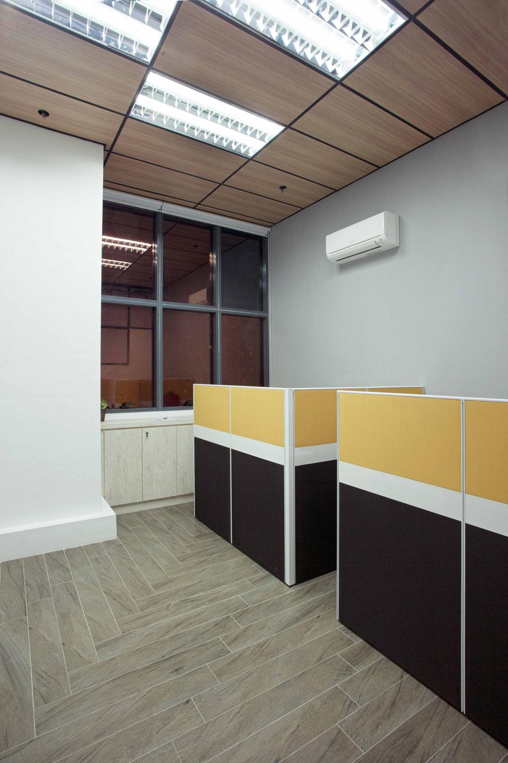 CT Hub 2 Office, Commercial, Interior Designer, Project Guru, Industrial, Eclectic, Air Conditioner, Furniture, Reception, Reception Desk, Table, Paper