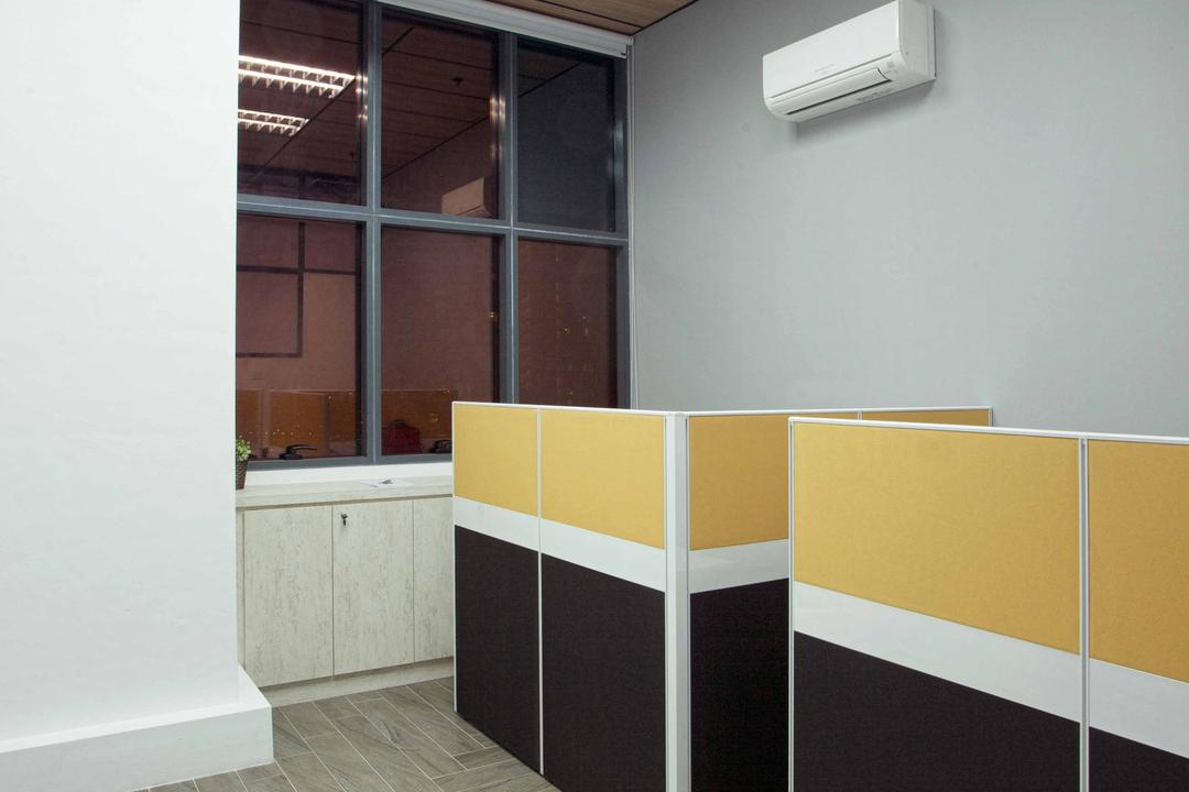 CT Hub 2 Office, Project Guru, Industrial, Eclectic, Commercial, Air Conditioner, Furniture, Reception, Reception Desk, Table, Paper