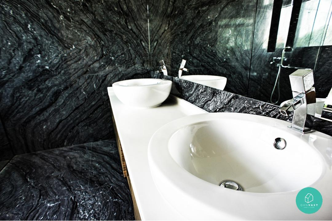 Fuse Alliance - Jalan Kelulut - Bathroom Marble Floor and Shower Area