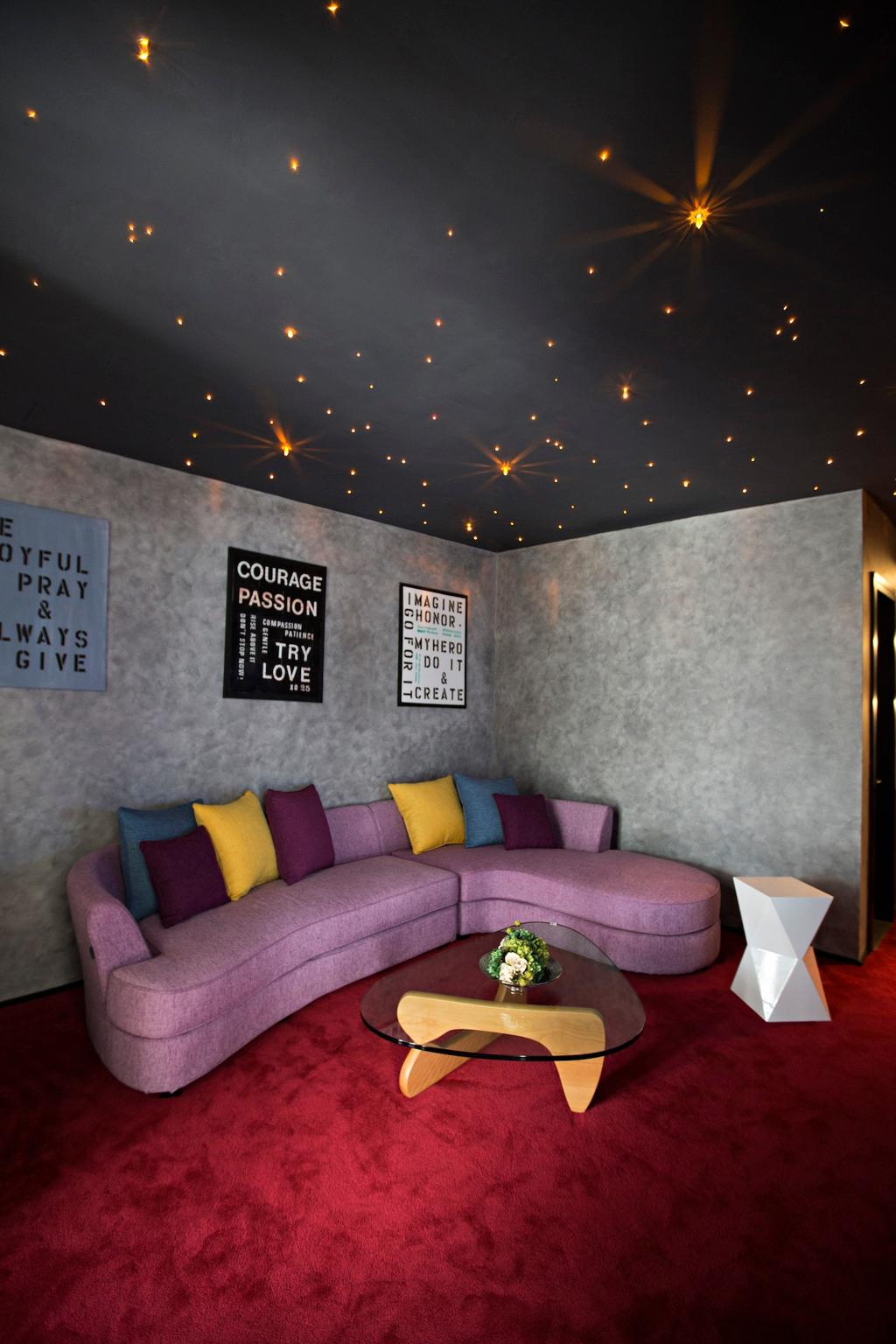 Contemporary, Landed, Living Room, Desa Park City, Interior Designer, Turn Design Interior, Astronomy, Moon, Night, Outdoors, Outer Space, Space, Universe, Couch, Furniture