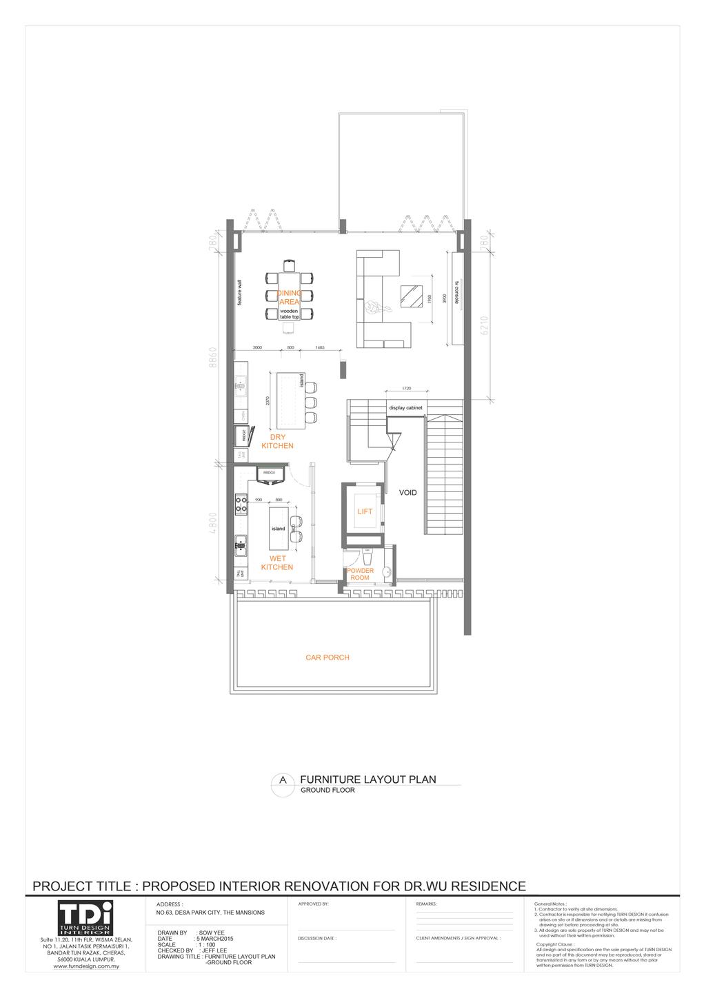 Scandinavian, Landed, The Mansions B, Interior Designer, Turn Design Interior, Floor Plan, Diagram, Plan