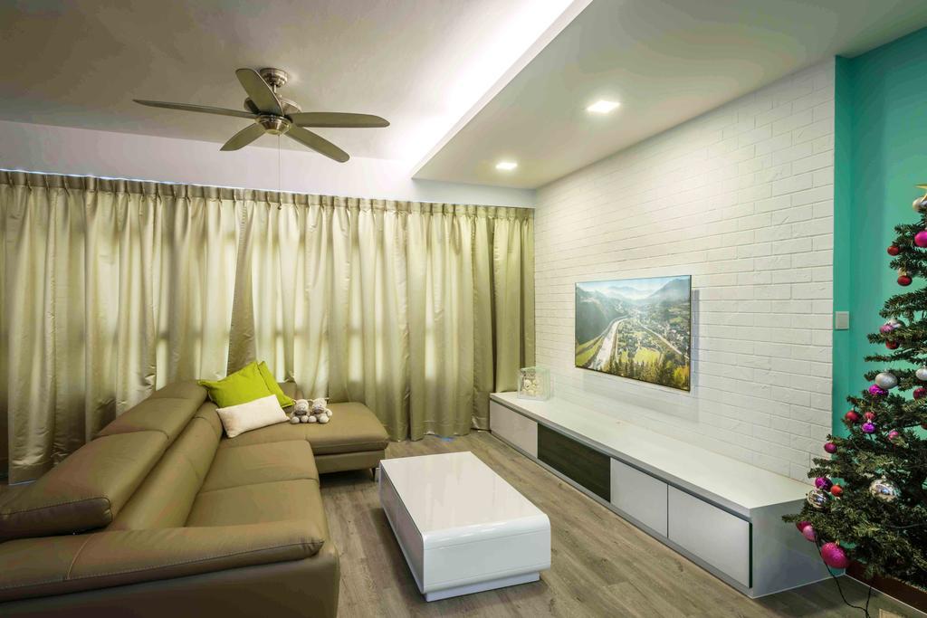 Traditional, HDB, Living Room, Tampines (Block 524A), Interior Designer, Cozy Ideas Interior Design, Couch, Furniture, Indoors, Interior Design, Tub