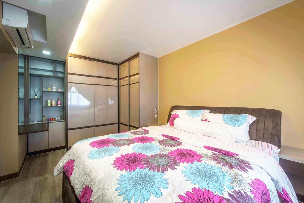 Traditional, HDB, Bedroom, Tampines (Block 524A), Interior Designer, Cozy Ideas Interior Design, Bed, Furniture, Indoors, Interior Design, Room