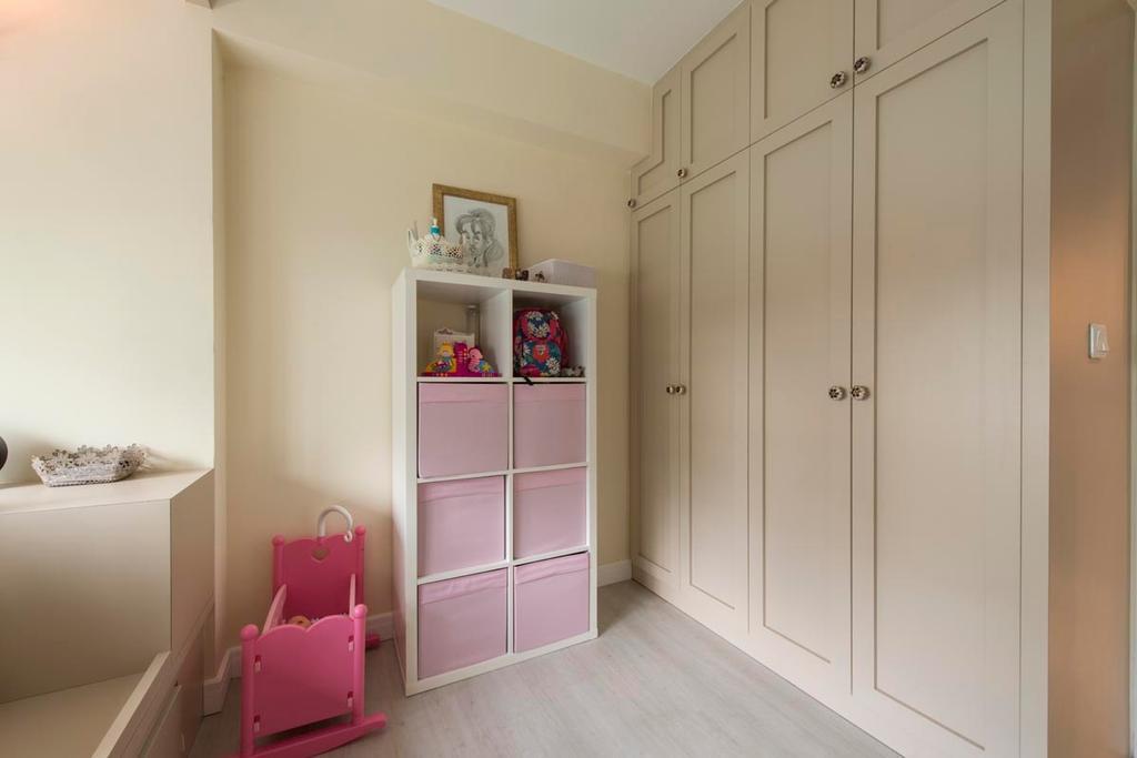 Vintage, HDB, Bedroom, Edgefield Plains (Block 671B), Interior Designer, Fifth Avenue Interior, Kids, Kids Room, Pink, Wardrobe, Wood, Neutral Colours, Light Wood