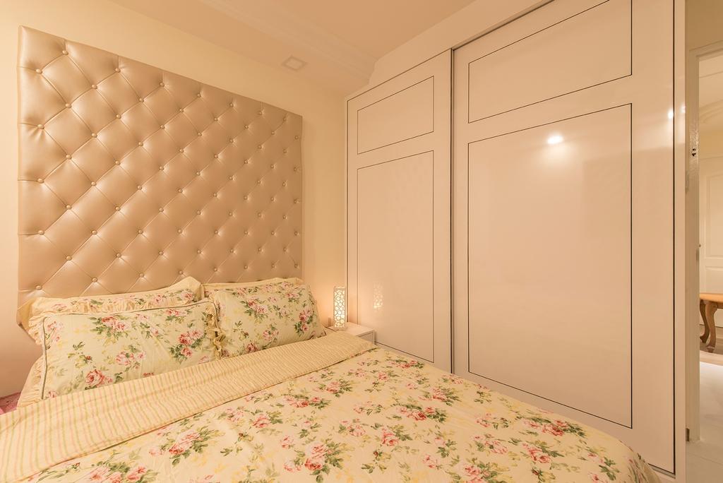 Transitional, HDB, Bedroom, Clementi Ave 4, Interior Designer, Ace Space Design, Floral, Pink, Headboard, Wardrobe, Girl, Girly, Girlish, Girls Room, Indoors, Interior Design, Room