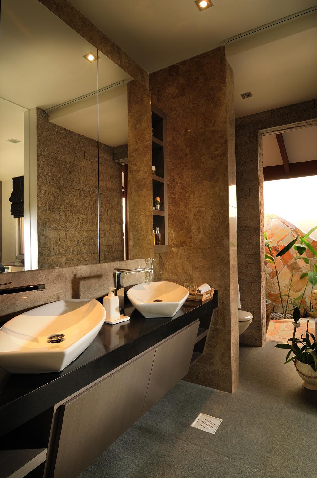 Modern, Landed, Bathroom, Burghley Drive, Interior Designer, U-Home Interior Design, Sink, Indoors, Interior Design, Room