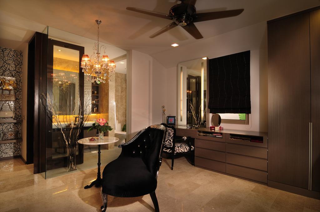 Modern, Landed, Bedroom, Burghley Drive, Interior Designer, U-Home Interior Design, Chair, Furniture, Couch, Dining Room, Indoors, Interior Design, Room, Door, Sliding Door