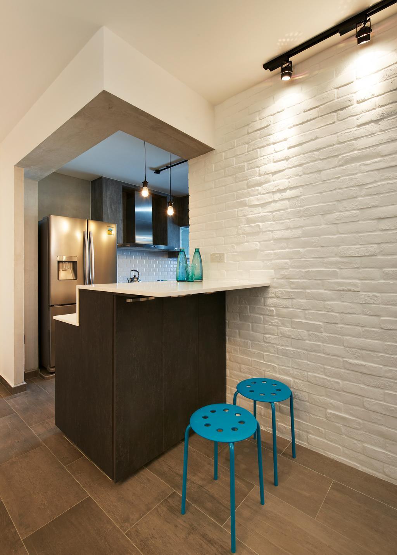 Scandinavian, HDB, Kitchen, Casa Clementi, Interior Designer, U-Home Interior Design, Bathroom, Indoors, Interior Design, Room