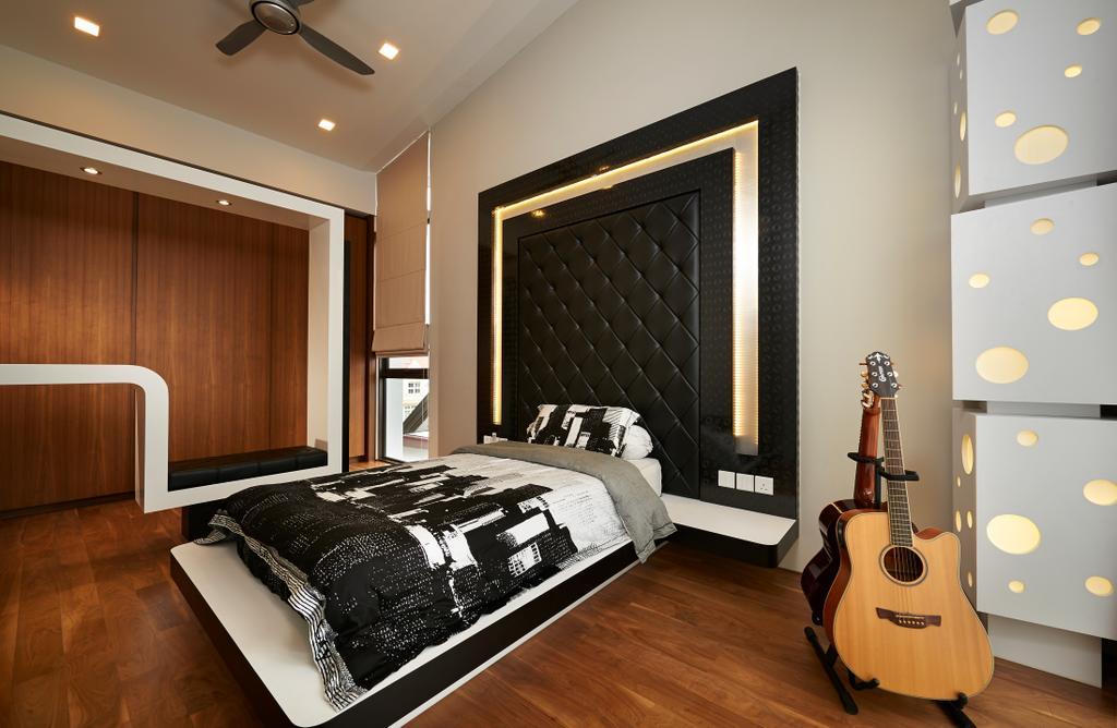 Modern, Landed, Bedroom, Goodman Road, Interior Designer, U-Home Interior Design, Indoors, Interior Design, Room, Leisure Activities, Lute, Mandolin, Music, Musical Instrument