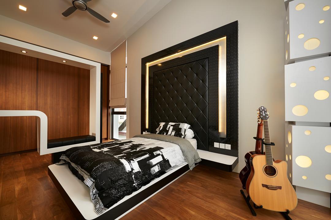 Goodman Road, U-Home Interior Design, Modern, Bedroom, Landed, Indoors, Interior Design, Room, Leisure Activities, Lute, Mandolin, Music, Musical Instrument