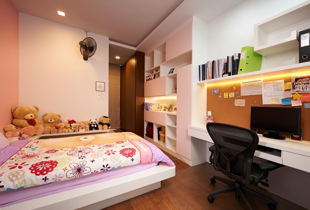 Modern, Landed, Bedroom, Goodman Road, Interior Designer, U-Home Interior Design, Chair, Furniture, Electronics, Monitor, Screen, Tv, Television, Bed