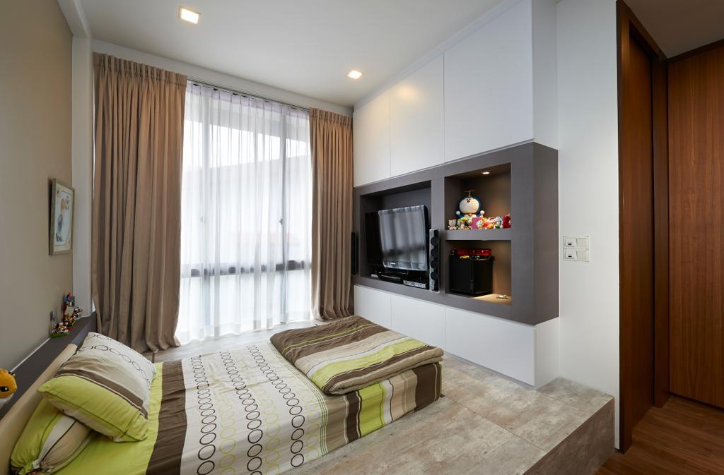 Modern, Landed, Bedroom, Goodman Road, Interior Designer, U-Home Interior Design, Indoors, Interior Design, Room