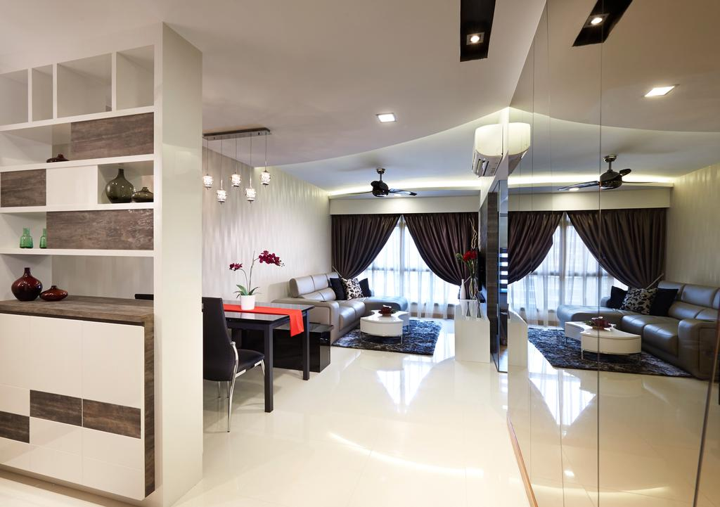 Modern, HDB, Living Room, Anchorvale Cove, Interior Designer, U-Home Interior Design, Dining Table, Furniture, Table, Dining Room, Indoors, Interior Design, Room